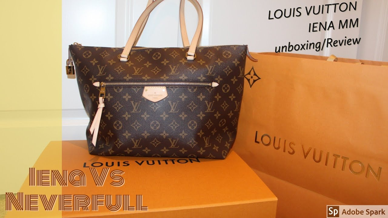 b42180562971 LOUIS VUITTON IENA MM/ REVIEW & UNBOXING/ IENA COMPARED TO NEVERFULL/ IENA  MM MONOGRAM