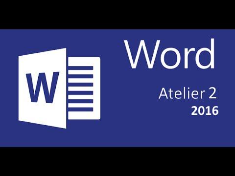 Certification Microsoft Word 2016  Atelier 2   correction