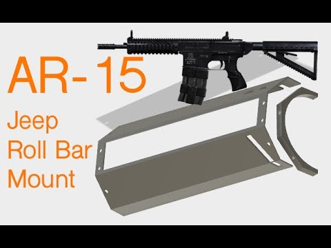 AR-15 Style Jeep Roll Bar Accessory Mount - Part 1 - YouTube
