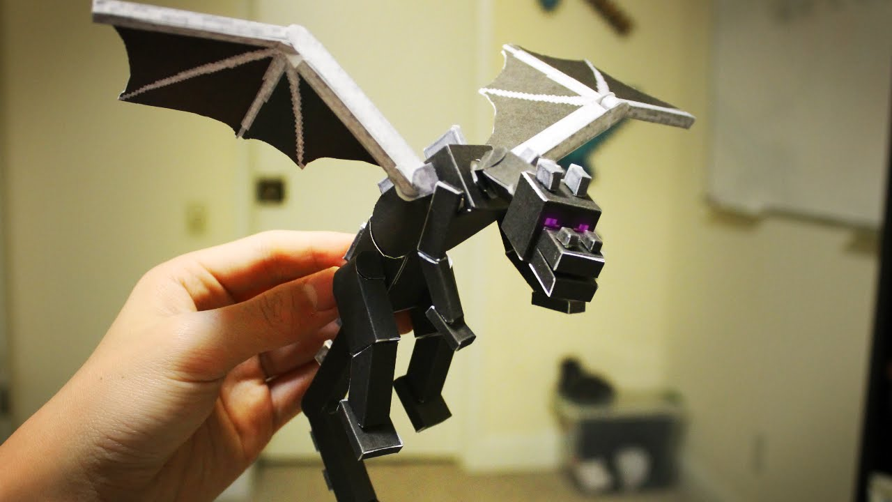 how to make a paper ender dragon youtube