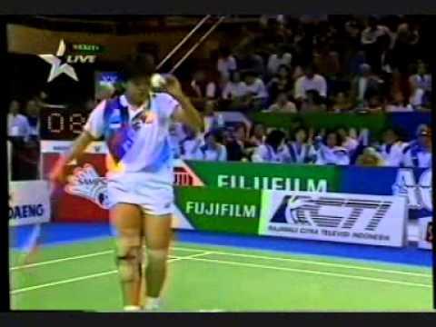 """Uber Cup Final in Hongkong: """"Mia Audina VS Wang Chen"""" - Set 1 & 2 @ Star Sports May 25th 1996"""