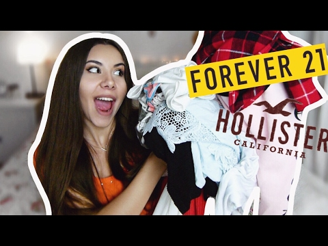 FASHION TRY-ON HAUL // FOREVER21, HOLLISTER | Valeria Greb
