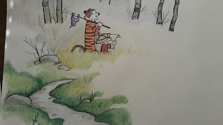 Drawing Calvin and Hobbes - Speed Draw