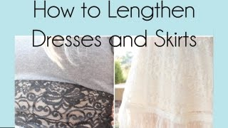 How to Lengthen Dresses & Skirts   RemiiRoo