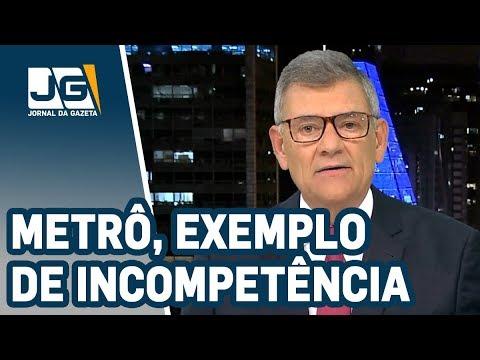 Rodolpho Gamberini / No metrô de São Paulo, exemplo de incompetência