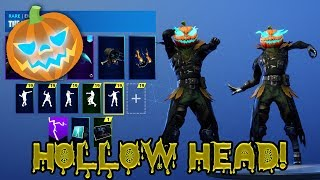 "*NEW* PUMPKIN ""HollowHead"" SKIN SHOWCASE WITH ALL FORTNITE POPULAR DANCES & EMOTES!"