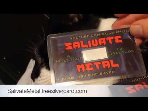 Salivate Metal Silver Card