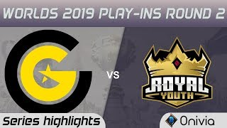 CG vs RY Highlights All Games Worlds 2019 Play in Round 2 Clutch Gaming vs Royal Youth by Onivia