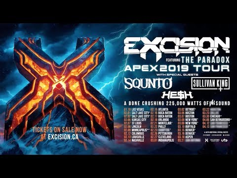 Excision Tour Dates 2020 EXCISION   THE APEX 2019 TOUR (Official Tour Trailer)   YouTube