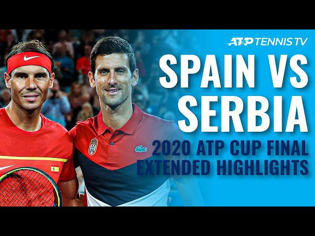 Nadal & Spain vs Djokovic & Serbia | ATP Cup 2020 Final: Extended Highlights