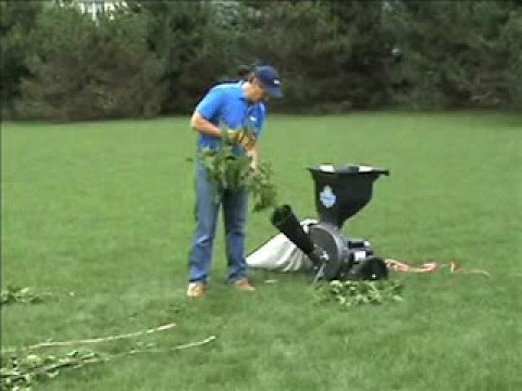 Electric Wood Chipper Leaf Shredder Chipping Maple Branches Youtube