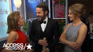 Golden Globes: Backstage With Winners Casey Affleck & Tracee Ellis Ross!