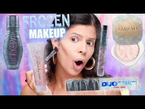 FULL FACE OF FROZEN MAKEUP CHALLENGE | WTF DID I JUST DO??? thumbnail