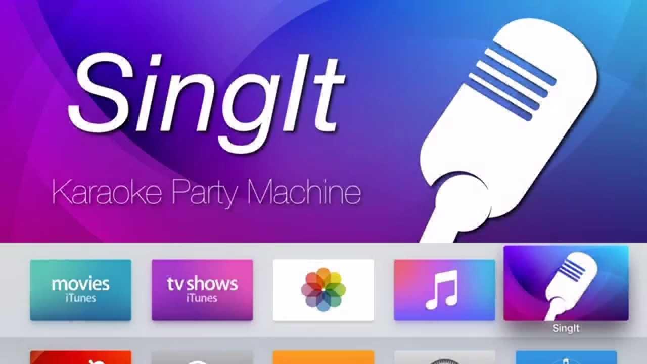 karaoke machine apple tv
