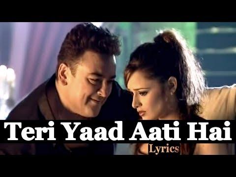 Teri Yaad Aati Hai   Lyrics   Adnan Sami   HD 1080p   Globe