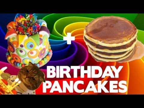 M&M Birthday Pancakes - Food Mashups
