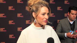 Blake Lively talks about BFF Florence Welch at Chimes for Change