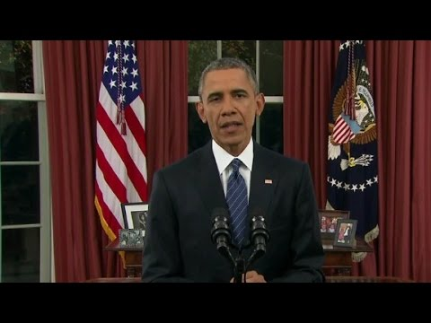 Obama Oval Office Address Not So Much >> President Obama S Full Oval Office Address