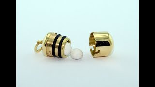 Waterproof Pill Box 18KT gold handmade