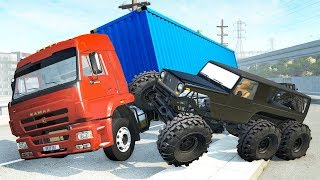 Beamng drive - Bandits Chases vs. Truckers crashes #4