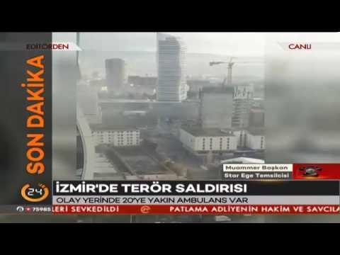 #SONDAKİKA Patlama anı canlı yayında #İzmir'deki patlamada 1 saldırgan ölü ele geçirildi