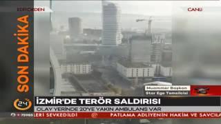 İzmir'deki patlama anı canlı yayında #İzmir'deki patlamada 1 saldırgan ölü ele geçirildi
