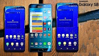 Galaxy S8 and S8 Plus vs Note7 vs S7 Edge Size Comparison