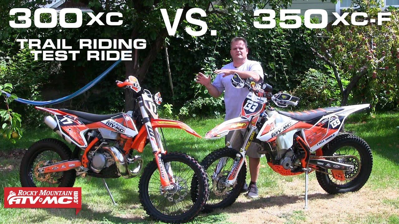 2017 ktm 300xc vs. 350xc-f test ride | #rmatvmc - youtube