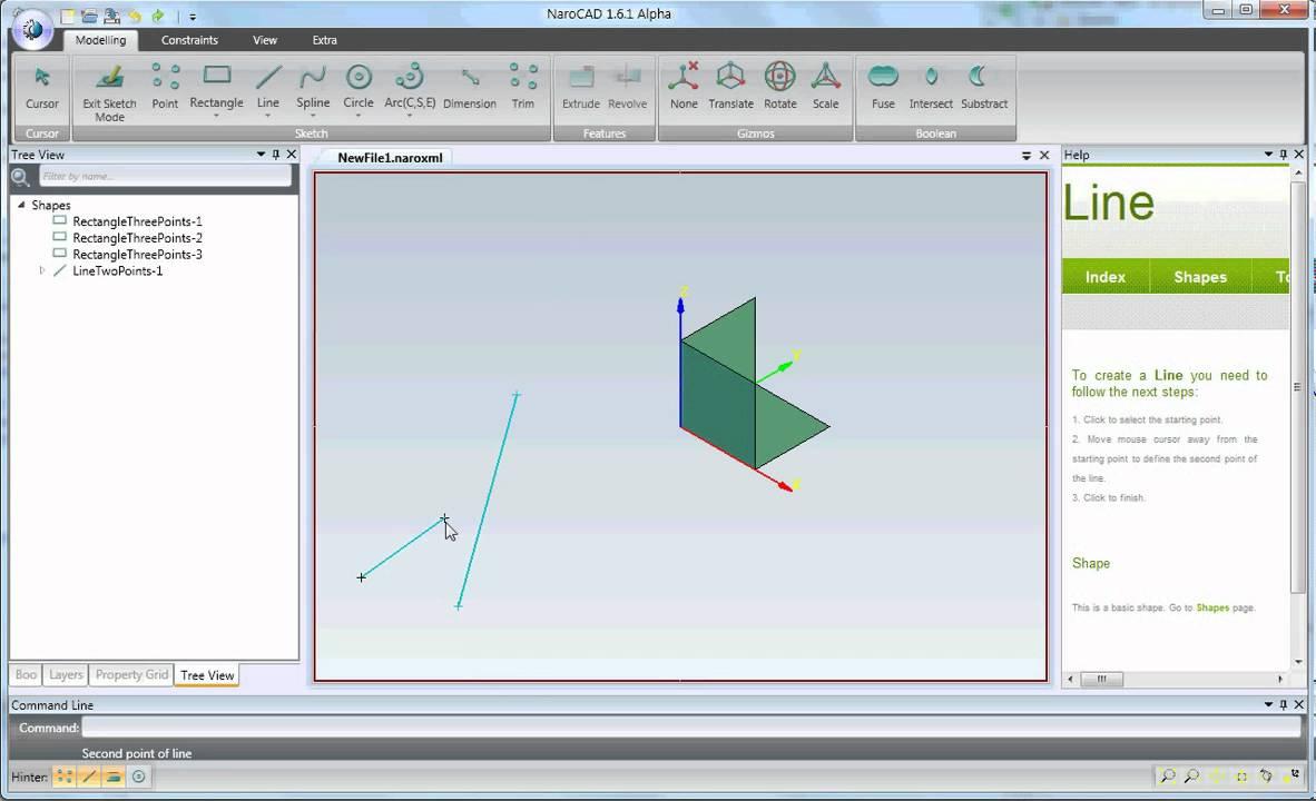 NaroCAD Sketch Hinter Shapes -...