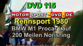 Rennsport BMW M1 Procar Rennen Norisring 1980 (DVD115)