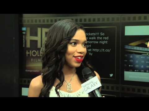 Teala Dunn Red Carpet Interview - Hollywood Film Awards 2014