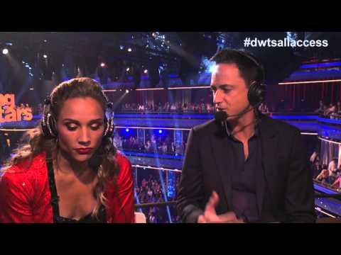 Lolo Jones reacts after ballroom premiere