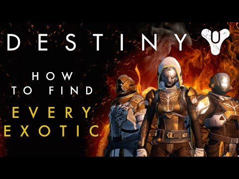 Destiny - How to find all the Exotic Weapons