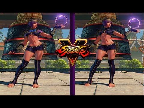 Street Fighter 5 mods Menat midriff no shawl
