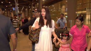 Aishwarya Rai Bachchan Spotted At Airport 2016   Aishwarya Rai Bachchan