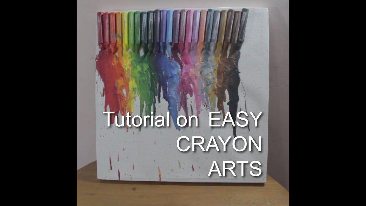 Make art using crayon oil pastel and hair dryer