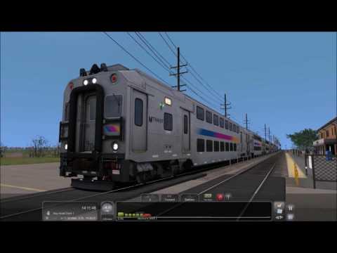 Train Simulator 2017: Running Train 8341 with a Multilevel Cab Car