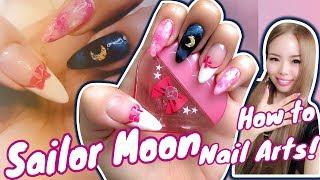 ♦︎100均Seria♦︎こっそり大人のセーラームーン風ネイル♦︎magical Sailor Moon Nail Art!