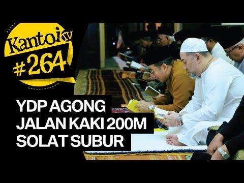 YDP Agong Sultan Muhammad V jalan kaki 200meter setiap pagi untuk solat Subuh