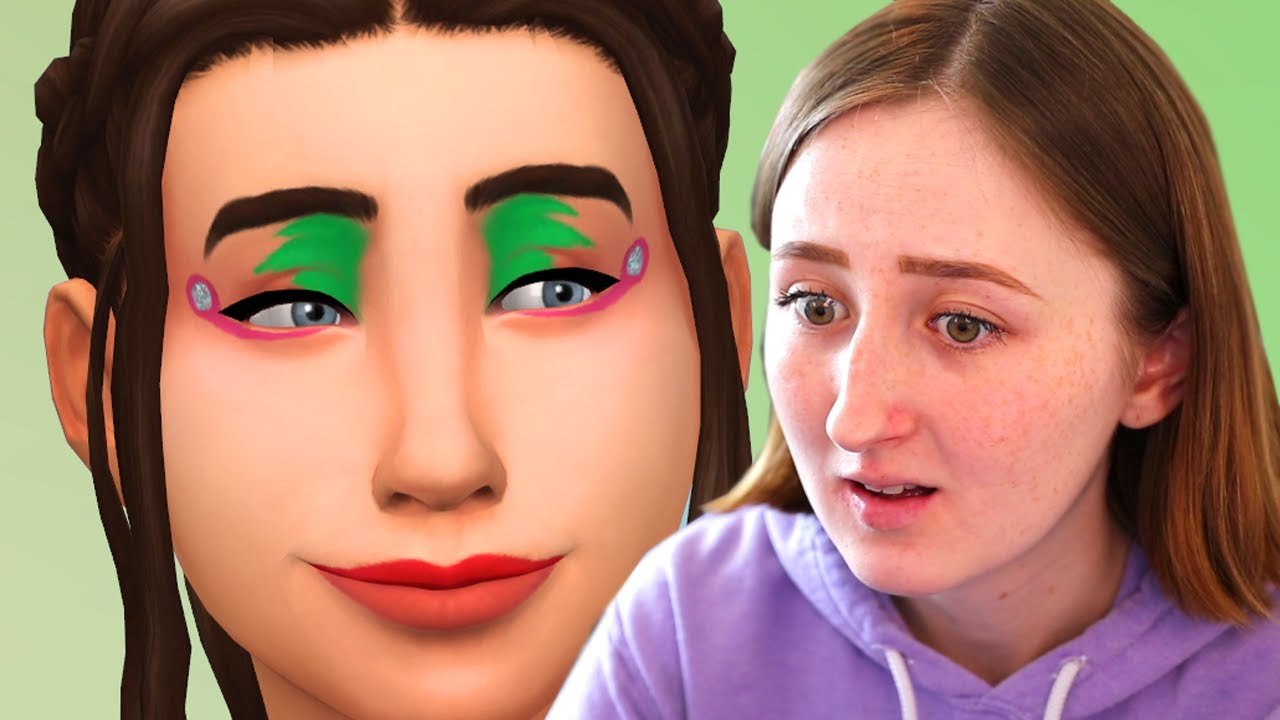 My *real* reaction to the terrible new makeup in The Sims 4... thumbnail
