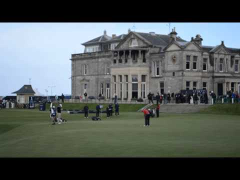 Scott Jamieson finishes off with a good putt at 18 at the Dunhill Links 2013 Round 4