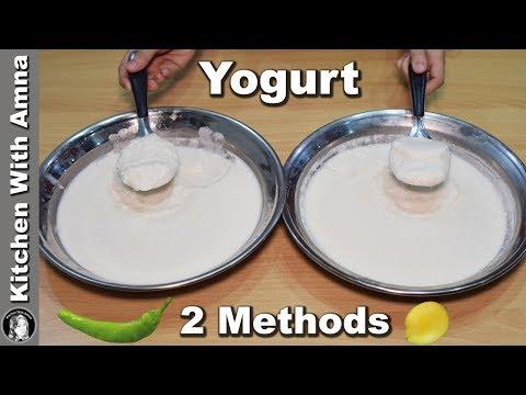 Make Dahi With 2 Ways - Homemade Yogurt Recipe - Kitchen With Amna