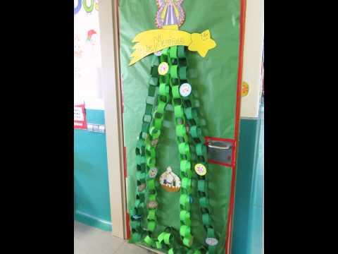 Puertas de navidad del colegio la jurada decoraci n del - Arreglos para navidad ...