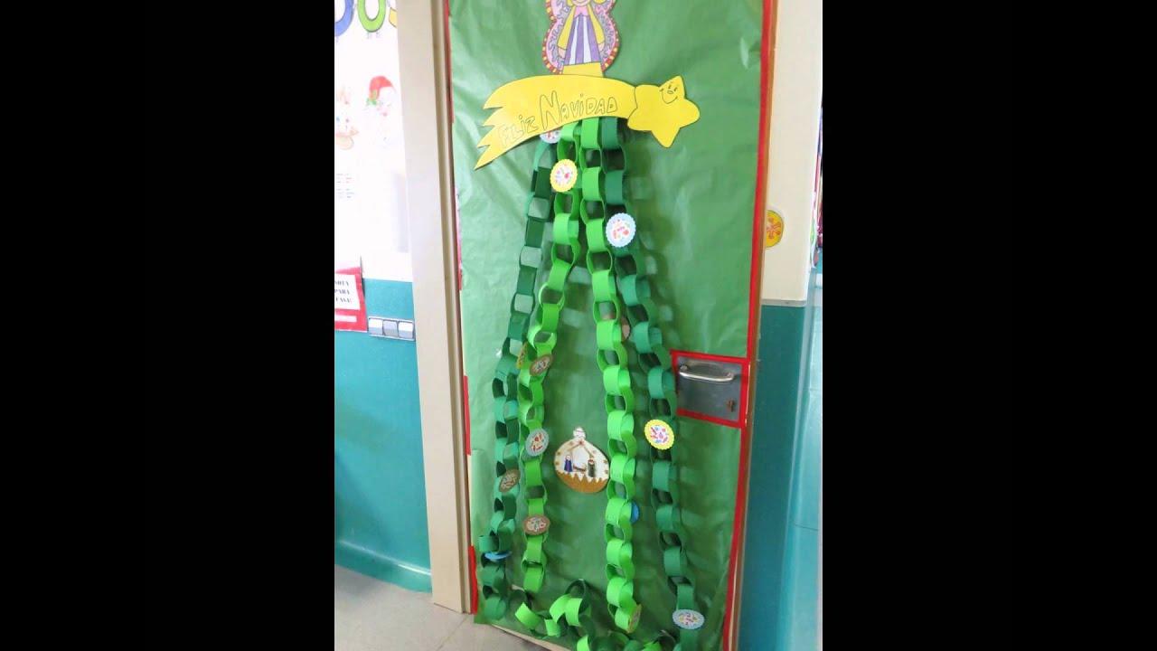 Puertas de navidad del colegio la jurada decoraci n del for Ideas decoracion navidad colegio