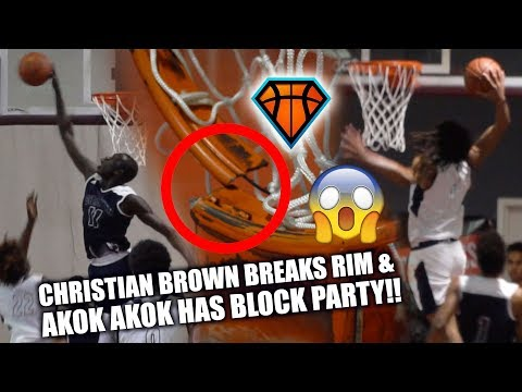Christian Brown BREAKS THE RIM😱 & Akok Akok THROWS A BLOCK PARTY!! | Rivals vs Upward Stars