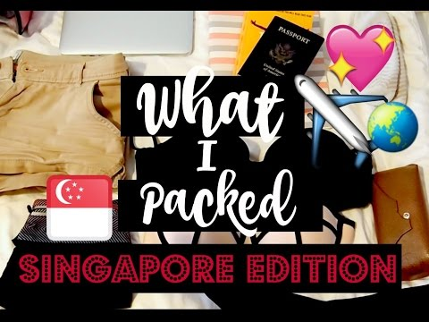 MINIMALIST PACKING | What I Packed for 1 Week in Singapore