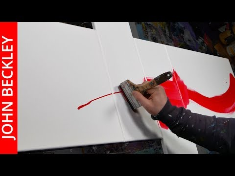 Abstract Painting Demonstration Quadriptych - Step by Step Painting Demo | Jazzy | John Beckley