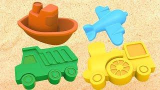 Apprenons les couleurs avec les bacs à sable. Dessin animé éducatif