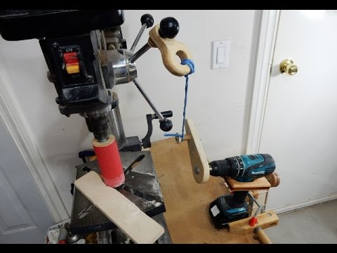 Build a drill press oscillating sander