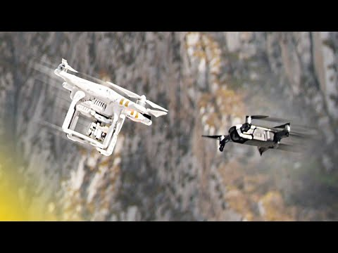 Crashing Drones Against Each Other!